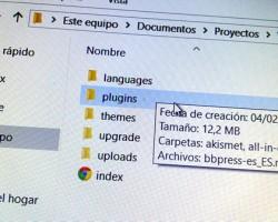 Eliminar espacio en Wordpress: repaso de carpetas